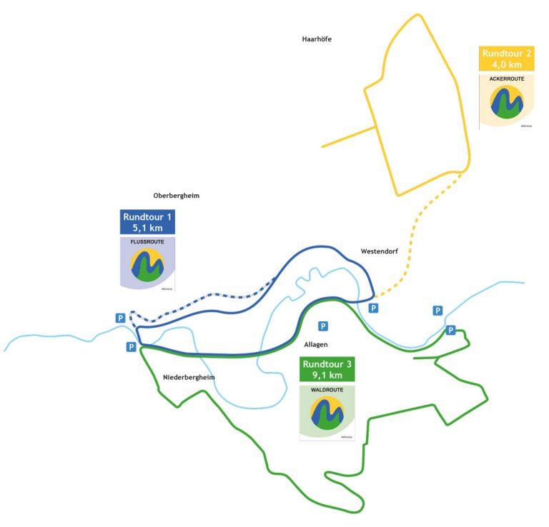 Karte der Rundtouren im Möhnetal